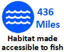 Habitat made accessible to fish